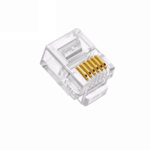 인네트워크 모듈러콘넥터, RJ-12, 전화모뎀 6P6C [투명/100개] [IN-6P6C]