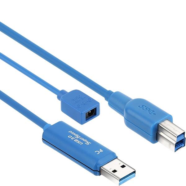 NETmate USB3.0 Hybrid AOC  리피터 케이블 [AM-BM] 20M [CBL-U3AOC02N-20M]