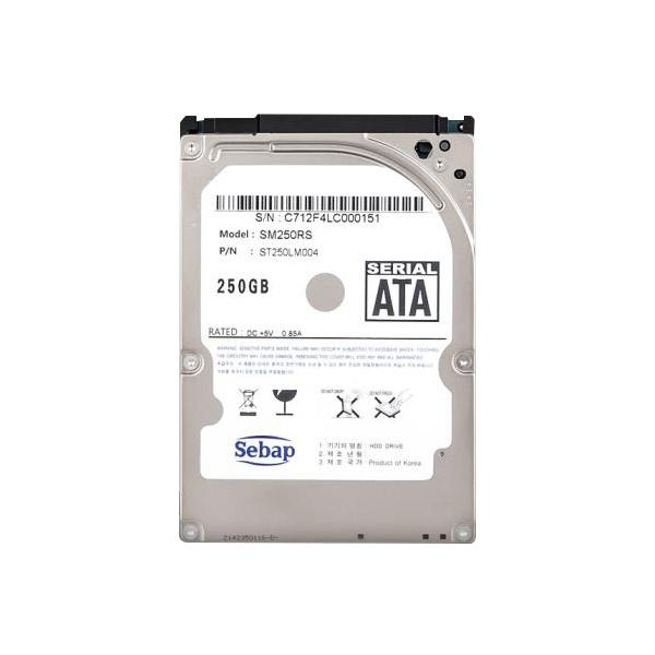 Brillante HDD 250GB SM250RS (2.5HDD/ SATA3/ 5400rpm/ 128MB/ SMR/ 7mm/ 리퍼비시)