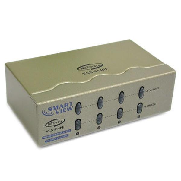 NETmate VSS-814PF [모니터 분배기/1:4/2K]