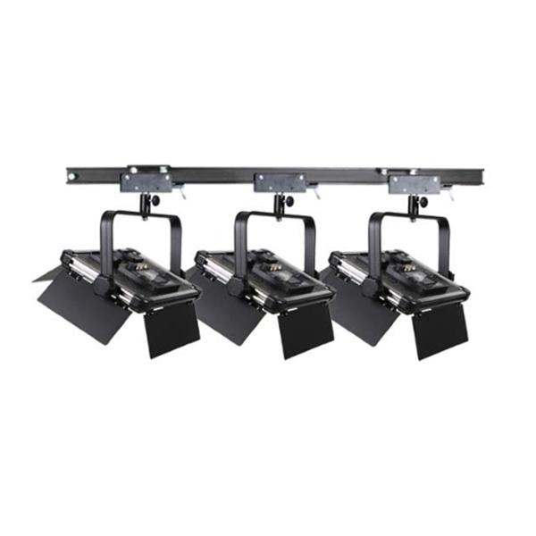 스튜디오 천장 조명 레일+1600Ⅱ 3구 세트