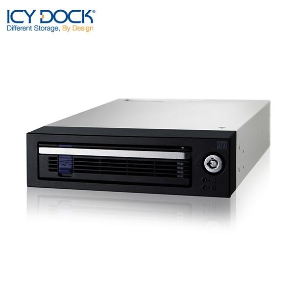 ICYDOCK 하드랙 MB876SK-B (5.25베이 1개 사용 [3.5형 SATA 1개 장착] [잠금장치])