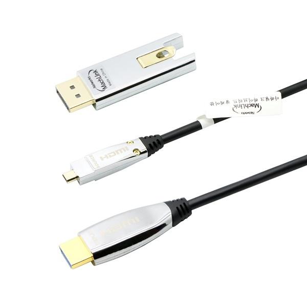 마하링크 하이브리드 광 DisplayPort or micro HDMI to HDMI 케이블 100M [ML-A8DP100]