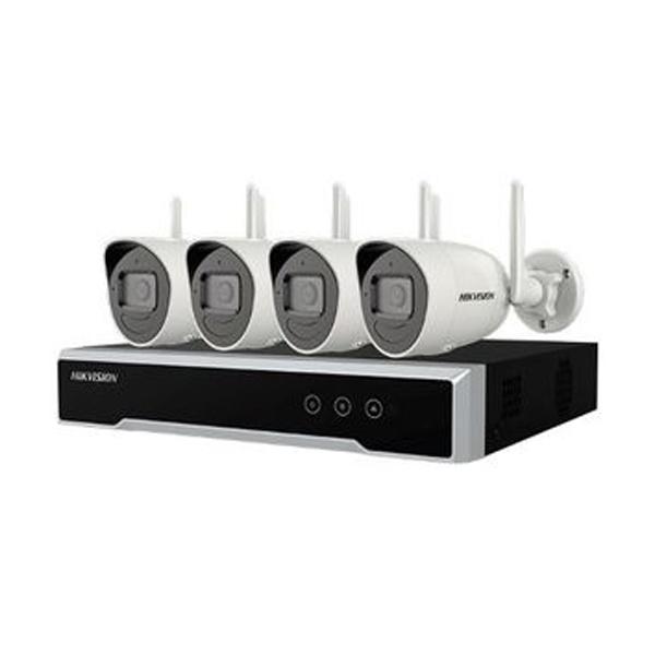 4채널 패키지, NK42W0H Wi-Fi Series 녹화기 + 카메라 4개 [200만 화소/고정렌즈 2.8mm/하드 1TB 포함]
