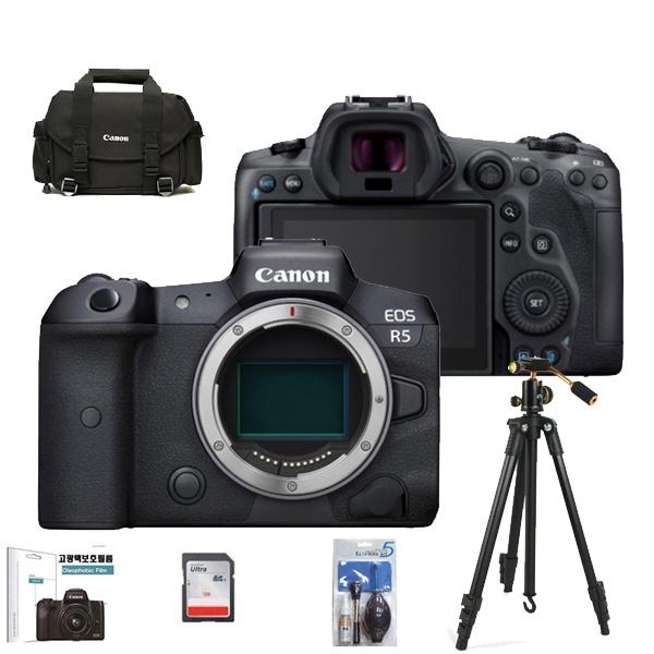 풀프레임 미러리스의 혁명 EOS R5 8K BODY+256GB+LCD보호필름+크리닝킷+삼각대+정품가방