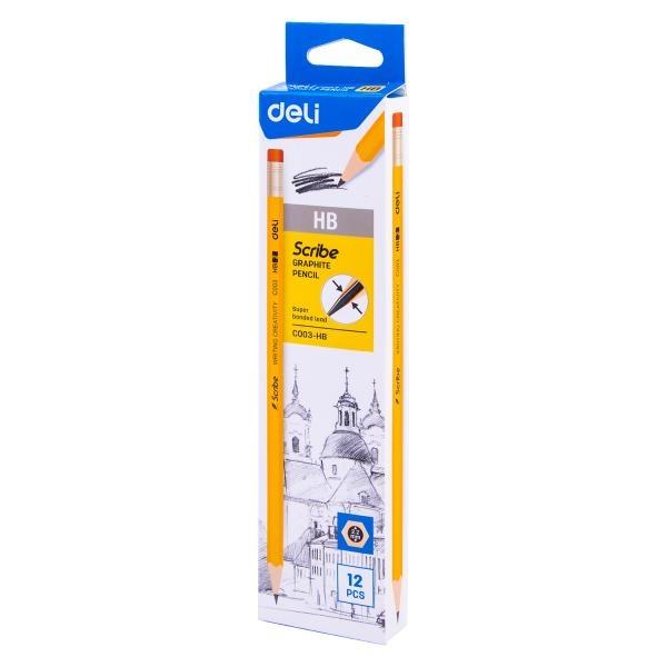 스크라이브 지우개 연필 (HB) EC003-HB