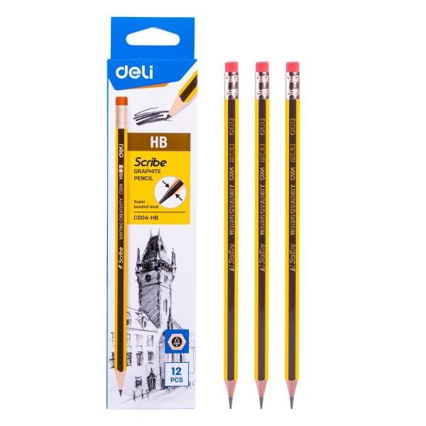 스크라이브 지우개 연필 EC004 [제품선택] HB
