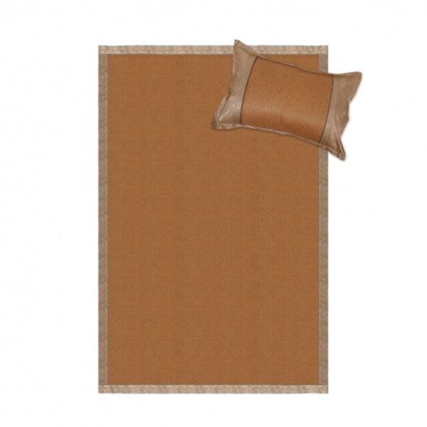 [GTS28112] 쿨자리 야생초 침대패드 베개커버 세트(라탄) (120x192cm)