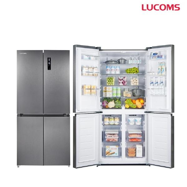 루컴즈전자 R48K01-S 482L 양문형 냉장고 상냉장 하냉동