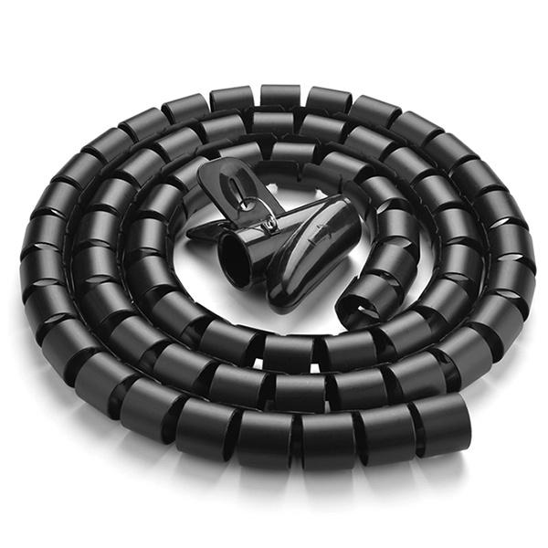 유그린 매직케이블 정리기, 1.5M [U-30818] [대/25mm] [블랙]