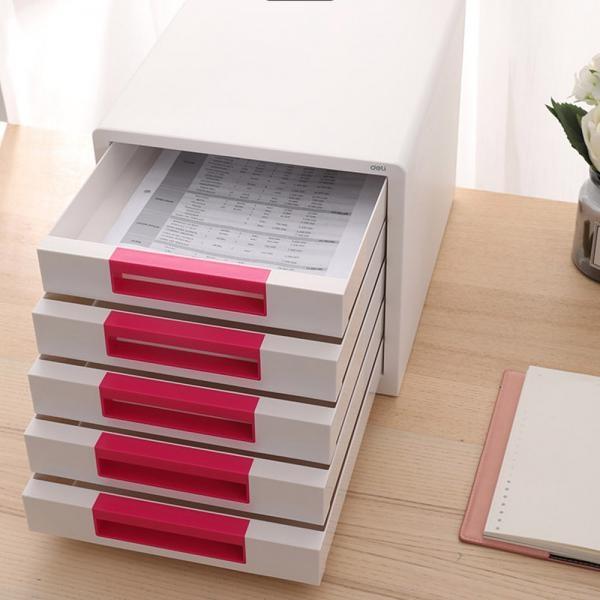 5단 ABS 서류함 [제품선택] (핑크) EZ01043PK