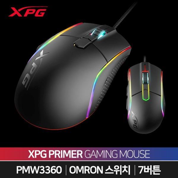 유선 게이밍 광마우스, XPG PRIMER [블랙/USB]