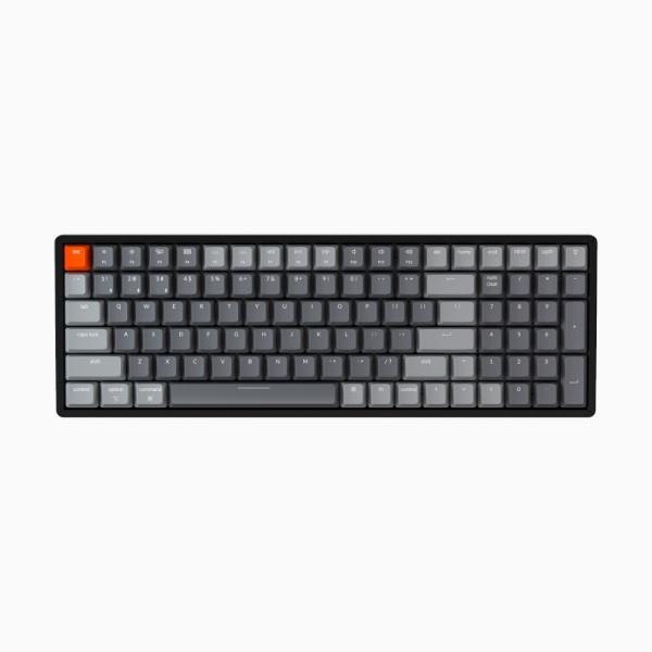 블루투스 기계식 미니키보드, 키크론 K4 V2 (K4 버전2) 100key 축교환, RGB LED, 적축, J1  [알루미늄]