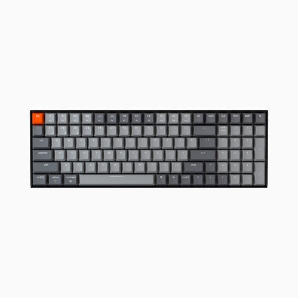 블루투스 기계식 미니키보드, 키크론 K4 V2 (K4 버전2) 100key, White LED, 적축, A1 [블랙]