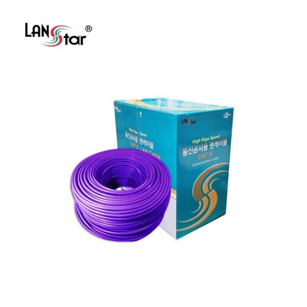 랜스타 CAT.6 UTP 랜케이블 300M [1롤/박스] 퍼플 [LS-6UTP-300MP]