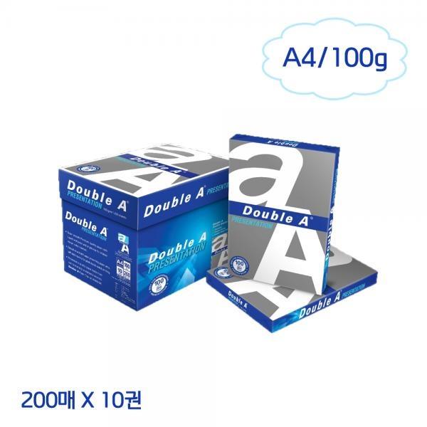 더블에이 A4 컬러레이저 전용지 100g (200매*10권)