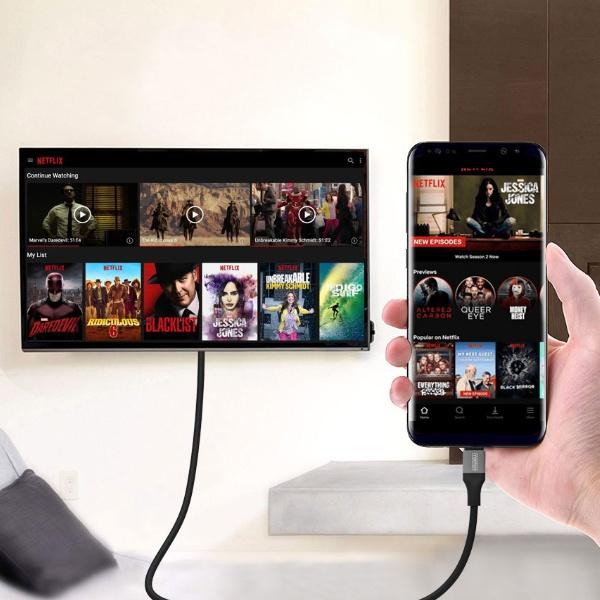 드로우N C타입 to HDMI 넷플릭스 hdcp 케이블 [2M]