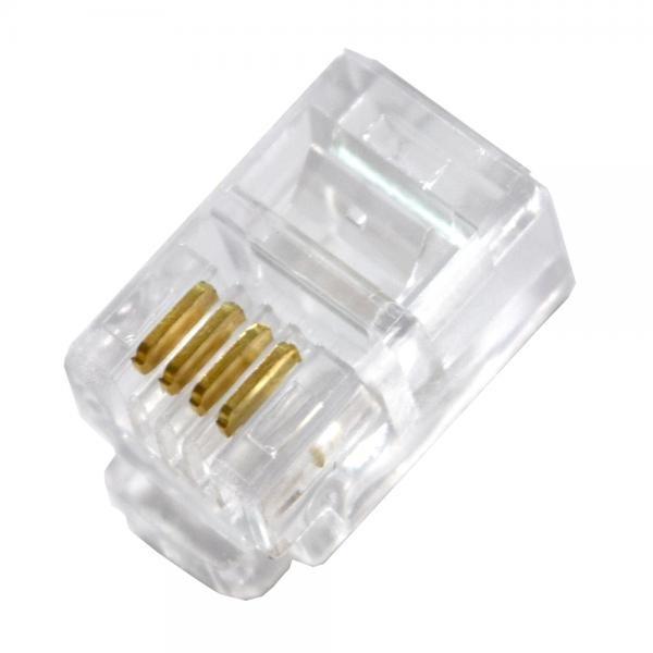 모듈러콘넥터, RJ11, 수화기용 4P4C [투명/100개] [TT-CON44]