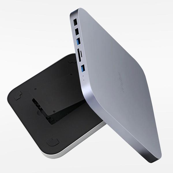 2.5인치 외장케이스, HM25C [맥미니 외장HDD/SSD 케이스 + USB허브] [하드미포함/그레이]