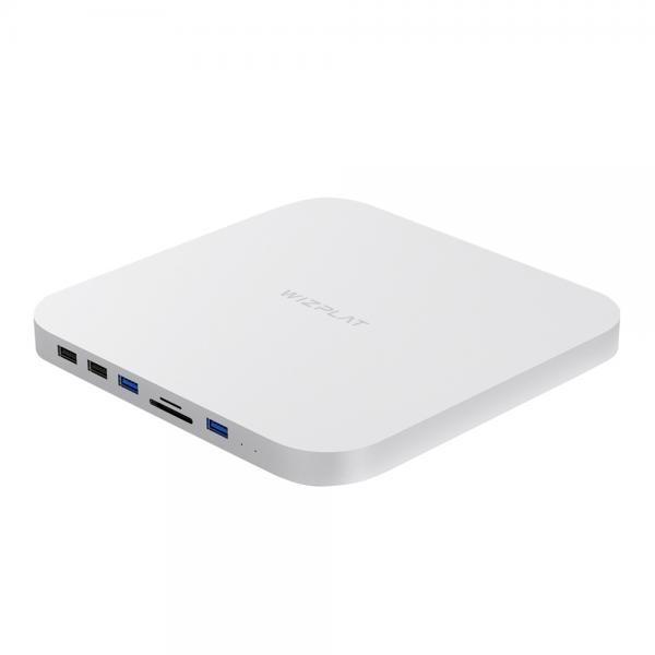 외장SSD, HM25C 맥미니 외장SSD+ USB허브 [500GB/실버]
