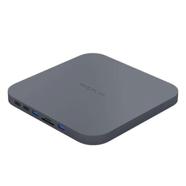 외장HDD, HM25C 맥미니 외장하드 + USB허브 [2TB/그레이]
