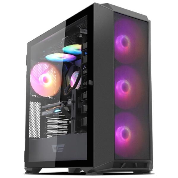 DLX23 MESH RGB 강화유리 블랙 (미들타워)