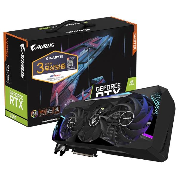 GeForce RTX 3090 AORUS Master D6X 24GB 피씨디렉트