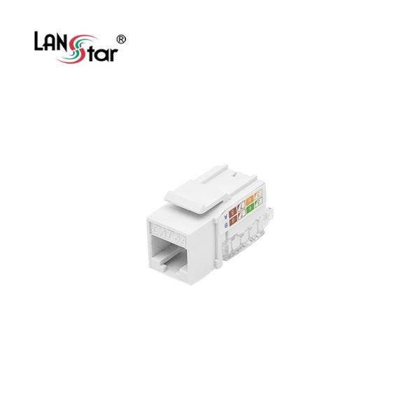 랜스타 Cat.6A UTP Tooless 키스톤잭 [LS-GKTVNL-U1WH]