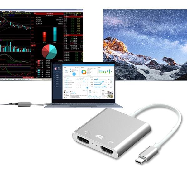 유커머스 USB C타입 to HDMI 컨버터 듀얼 모니터 [UC-CO15]