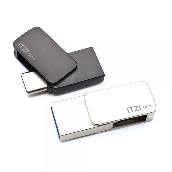 USB, ITZI UC1 TYPE-C 3.1 OTG [128GB/메탈실버]