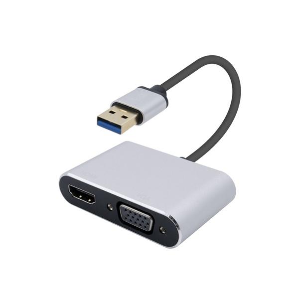 컴스 USB 3.0 to HDMI / VGA 컨버터 [블랙] [FW407B]