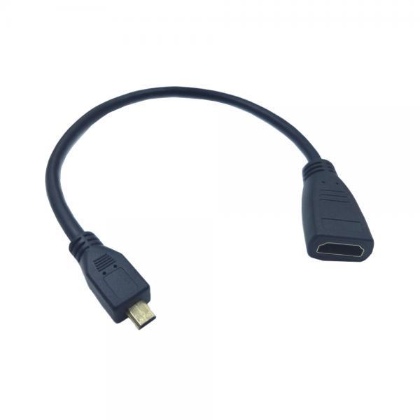 HDMI(F) to 마이크로 HDMI(M) 변환케이블 젠더 [블랙] [T-HD-MICRO-015M]