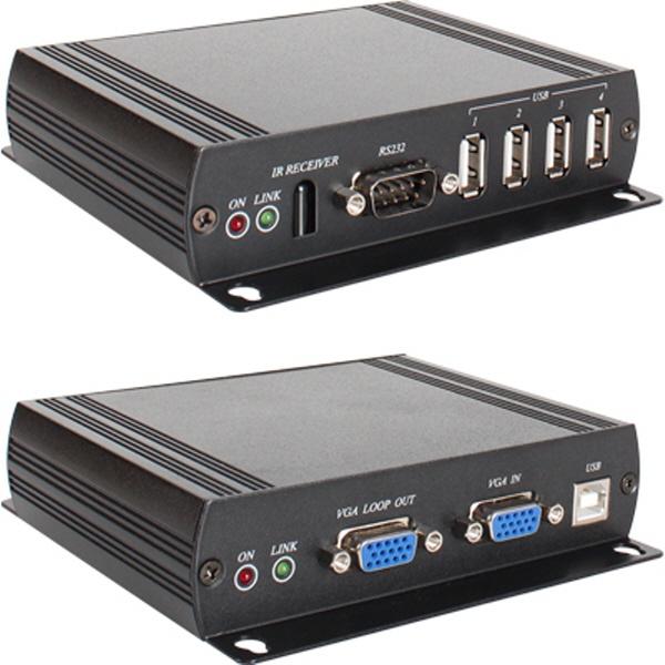 NETmate VGA + USB + Audio + RS232 + iR 멀티포맷 리피터 (140m/180m) [NM-VKM03]