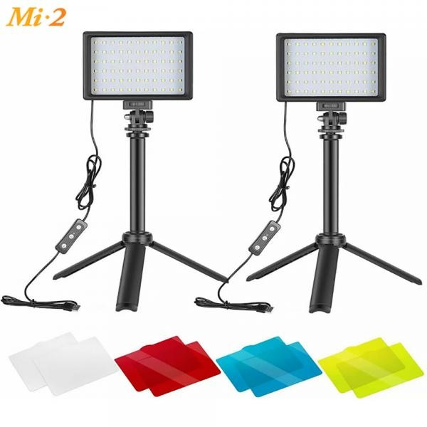 미투 L5 LED Panel  카메라 개인 촬영 조명 2 Set 폴더블 스탠드 포함