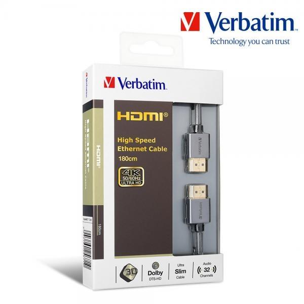 버바팀 4K HDMI 2.0 고속 이더넷 케이블 [1.8M] [65671]