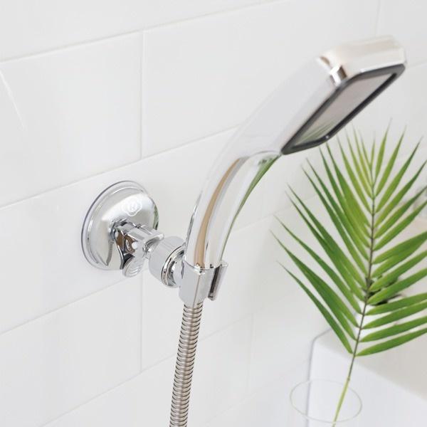 욕실 원터치 흡착 각도조절 무빙 애견 샤워기 거치대