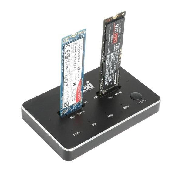 넥시 NVMe 듀얼도킹스테이션 [NX-NVME-D2N] [NX1215]