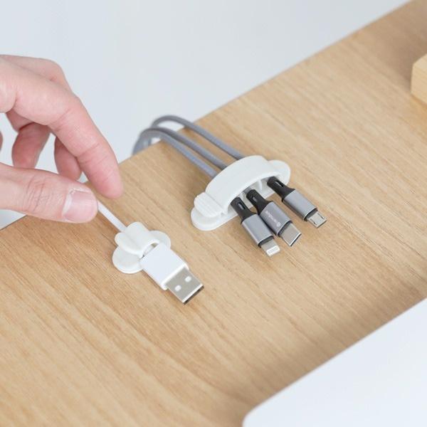컴퓨터 랜선 USB 케이블정리 벽부착 클리어 클립 10EA