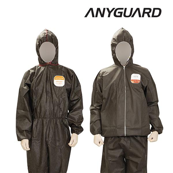 애니가드 SBW 방진복 방호복 SF보호복 J100 [제품선택] 투피스 XL 회색 24입