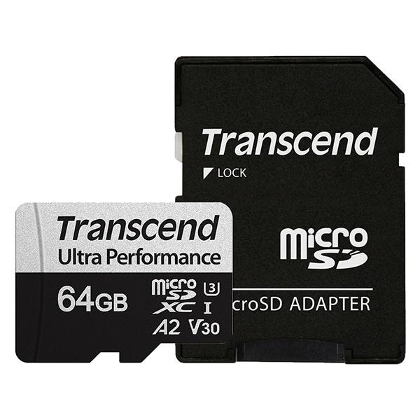 MicroSDXC I, UHS-I U3, V30, A2, 340S Ultra Perfomance MicroSDXC 64GB