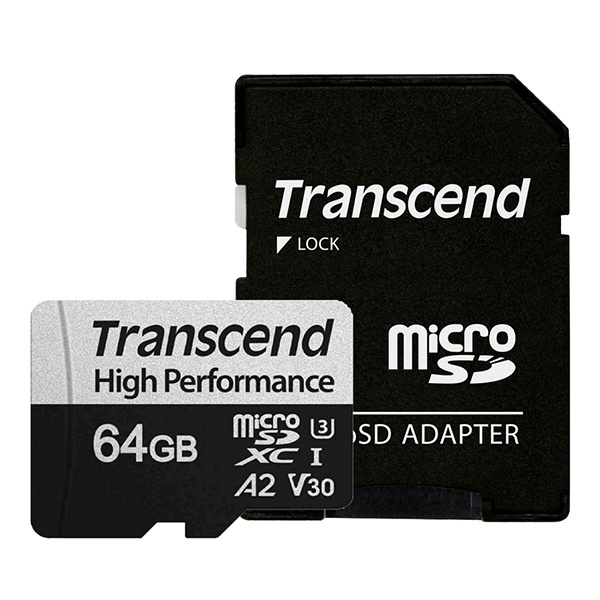 MicroSDXC I, UHS-I U3, V30, A2, 330S High Perfomance MicroSDXC 64GB