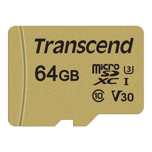 MicroSDXC I, class10, UHS-I U3, V30, 500S MLC MicroSDXC 64GB