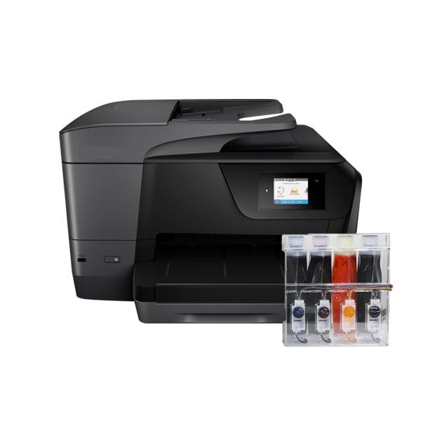 HP Officejet Pro 8715 무한잉크 복합기 (병행수입) + 아이팩 무칩 무한공급기 [1,200ml]