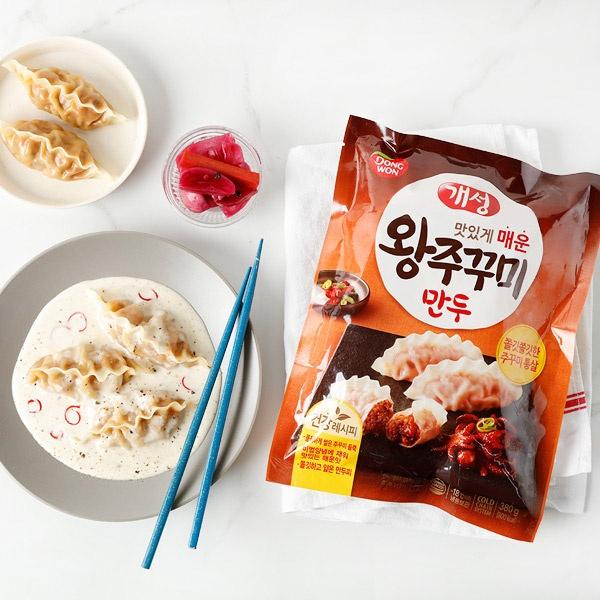 맛있개 매운 개성 왕주꾸미만두 380gx6봉