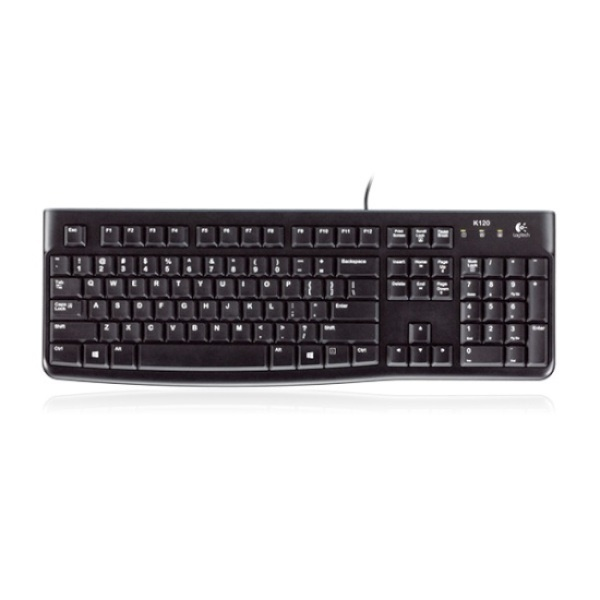 [인쇄전용모델] 유선키보드, K120 NEW [로지텍코리아정품] [블랙/USB/키스킨포함]