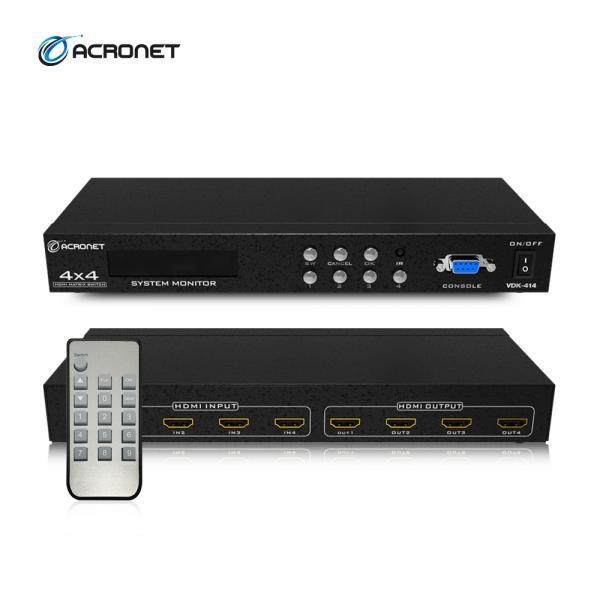 ACRONET VDK-414 [매트릭스 스위치 /4:4/HDMI/오디오 지원]