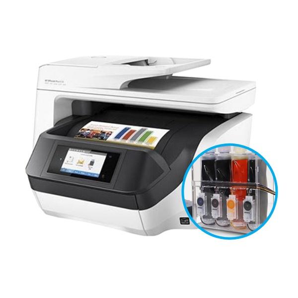 HP Officejet Pro 8720 무한잉크 복합기 (병행수입) + 아이팩 무칩 무한공급기 [2,000ml]