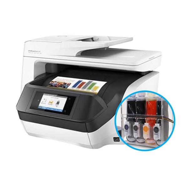 HP Officejet Pro 8730 무한잉크 복합기 (병행수입) + 아이팩 무칩 무한공급기 [600ml]