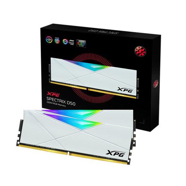 XPG DDR4-3200 CL16 SPECTRIX D50 RGB 화이트 패키지 (32GB(16Gx2))