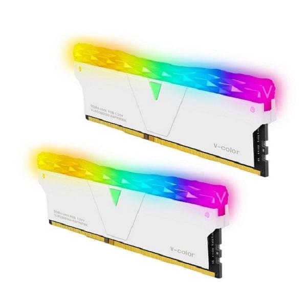 브이컬러 Prism Pro DDR4 PC4-28800 CL18 RGB 16GB (8GBx2) 화이트 제이씨현